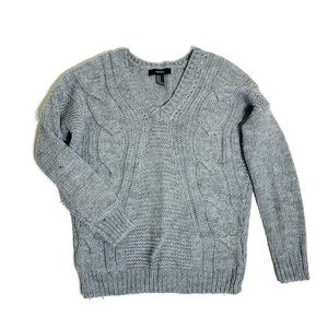 Forever 21 cable knit v-neck sweater